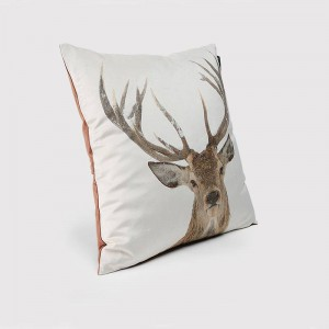 Luxury Velvet Printing New Elk Pillowcase Pillow/Car Covers Cushion Cover for Christmas Home Sofa Bed Festival Decoration