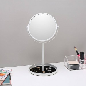 Makeup mirror desktop simple double face mirror enlarge 6.5 inch dressing table mirror with jewelry storage base wx8161502