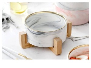 Marble Bamboos The Shelf Sand Pull Gray Bowl Western Style Fruits Bowl Dessert Bowl Western-Style Food Salad Ceramics Tableware
