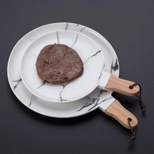 Marble ceramics Steak dish European style Fruit salad western food Flat plate Dessert circle dishes plates sets