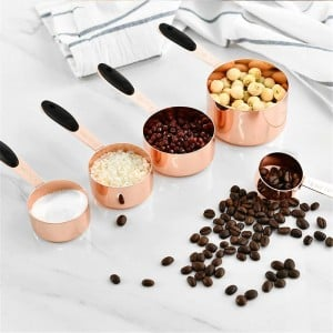 Measuring Spoon Stainless Steel Scoop Coffee Beans Powder Flour Spoon With Handle Durable Baking Spoon Kitchen Tool Set 5PCS
