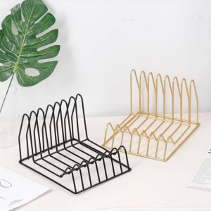 Metal Gold Multifunction Storage Shelf Basket Irregular Modern Iron Desk Storage Basket Magazine Newspaper Book Organizer
