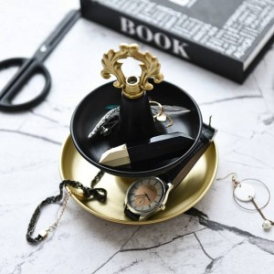 Metal Holder Double Jewellery Display Stand Dressing Table Ring Jewelry Watch Storage Tray Desktop Decoration Ornaments