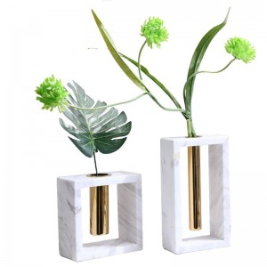 Metal Marble Vase New Home Decoration Decoration Creative Soft Home Accessories