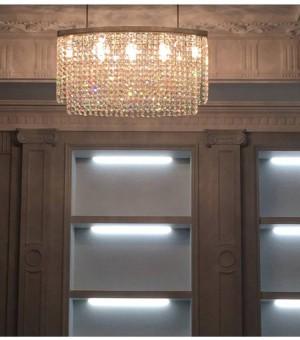Milan Oval Led crystal pendant lights for Art Studio Dining Room suspension Luminaire hot selling hotel Crystal lighting