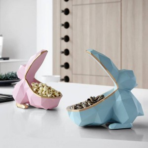 Miniature Animal figurine resin Toucan key candy Storage box Home Decoration for living rooms craft ornament tabletop storage