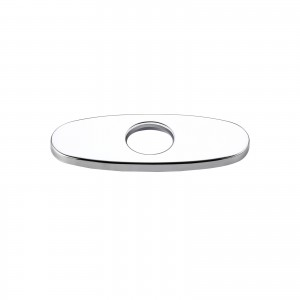 """Modern 4"""" Faucet Deck Plate Escutcheon for 1-Hole Faucet Installation Polished Chrome Finish Stainless Steel"""