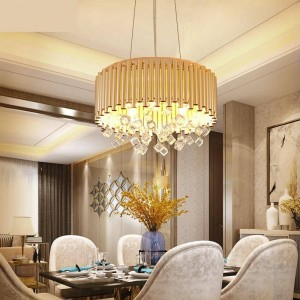 modern chandelier lighting Dining Room lamp Luxury Art Deco pendant Lustre Crystal Lamp Household Creative project led light