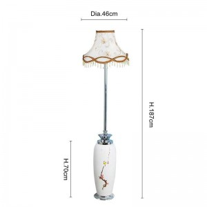Modern style ceramic Coloured drawing floor lamps for restaurant foyer hotel hall decoration classical standing lamp