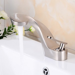 Modern Creative 1-Handle Single Hole Bathroom Sink Faucet Solid Brass