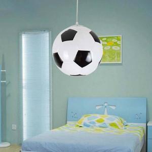 Modern Creative football pendant lights,2 colors dia 25cm glass ball lampshade suspension light for children bedroom balcony
