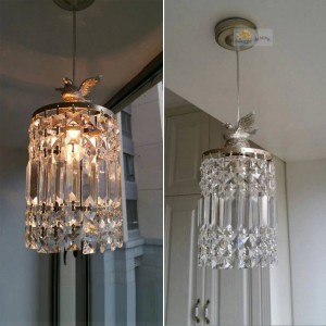 Modern fashion Single crystal pendant light modern living room lamps bedroom Home Decoration lighting lamps