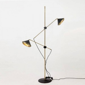 Modern Floor Lamp 2 arm Adjustable black white adjustable floor Light bedroom Attractive Living Room Fashional light