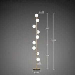 Modern Floor Lamp creative LED Floor Light grape gold color 9 head standing Lamp mushroom Livingroom Bedroom two year Guaranteed