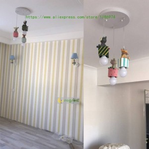 Modern Kids Room Led American Children's lamps boy girl Cartoon bedroom lamp E27 Pendant Light lighting Christmas decoration