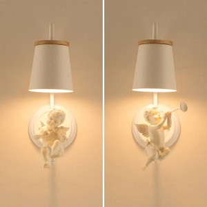 Modern Led Angel Wall lamp Children lamp Sconces Nordic Lighting Bedroom Lamps wedding Office Led Wall Lights Bedside Lamp