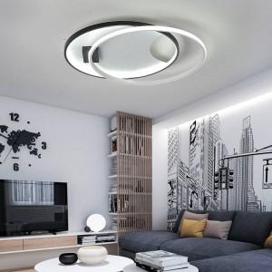 Modern LED ceiling lights for living room bedroom AC85-265V white / black color Remote control indoor lighting ceiling lamp