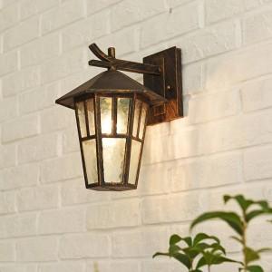Modern Loft lamps Vintage Outdoor Wall Lamp Hexagonal Simple Outdoor e27 wall light Waterproof Courtyard Lamp Balcony Lantern