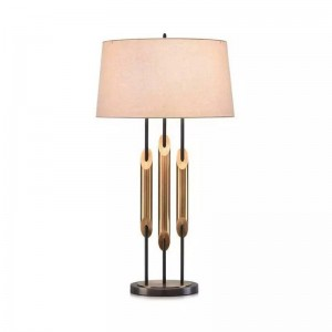 Modern luxury LED table Lamp lighting bedroom bedside lamp metal gold fashion desk light E27 lamp art home deocration