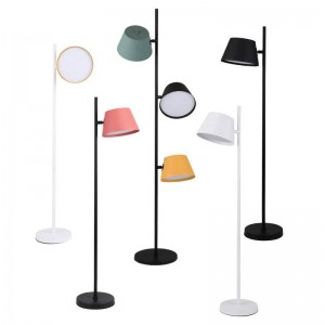 Modern Macaron kids Floor Light Fixtures For Living Room Bedroom Loft Standing Lamps 3 head Metal Lampshade Decor Home Lighting