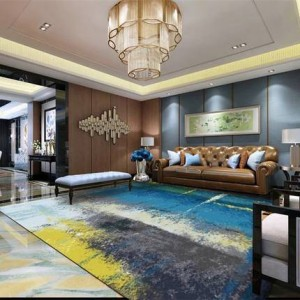 Modern minimalist abstract carpet living room coffee table bedroom carpet Nordic rectangular custom carpet