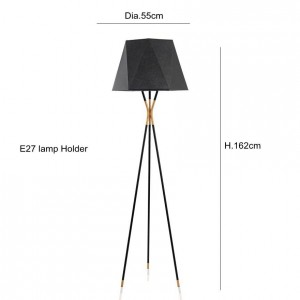 Modern Minimalist Floor Lamp Standing Lamps black for Living room Reading Lighting Loft Iron Triangle Floor Light