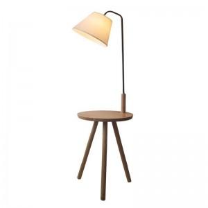 Modern Minimalist Floor Lamp table light Wood Tripod simple life white Fabric Shade Creative Living Room Study Lighting Fixture