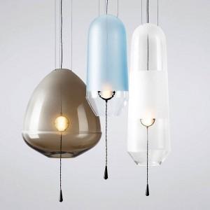 Modern simple colorful glass LED pendant lights foyer restaurant glass bubble Light luxury LED pendant lamp lighting fixture
