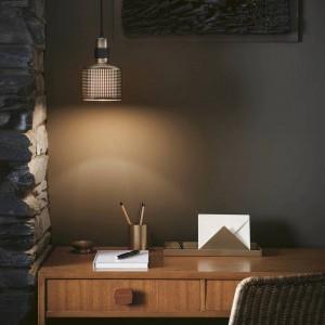 Modern simple LED Pendant light gold metal lampshade hanglamp E27 3W LED lamp holder nodric droplight