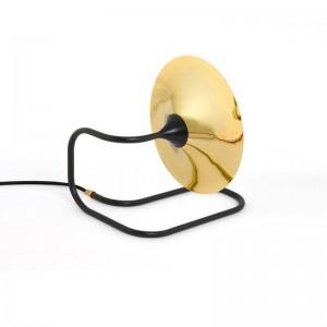 Modern simple Light luxury Design Table lamps Bedroom study reading lamp Black White bracket Gold Lampshade G9 bulb lighting