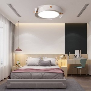 Modern Simple Round LED Living Room Ceiling Hanging Lamp Nordic Wood Hanglamp for Bedroom Home Study Deco Ceiling Light Fixtures