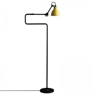 Modern simple standing Lamp black yellow color lampshade E27 led lamp floor light Living Room reading bedroom office home light