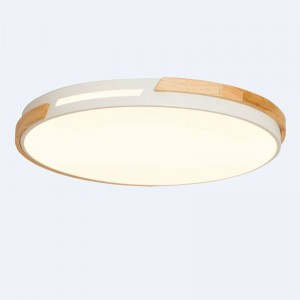 Modern Simple Wood Round LED Living Room Restaurant Ceiling Lamp Nordic Hanglamp for Bedroom Home Deco Ceiling Light Fixtures