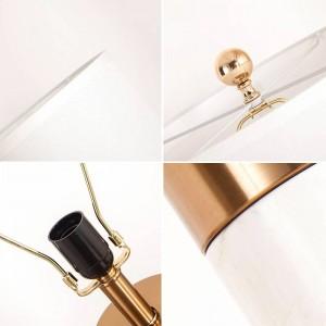 Modern Table Lamp copper marble base white silver art Home decoration Lighting luxury nordic table light E27 bulb 6W