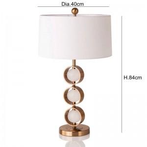 Modern Table Lamp With Fabric Lampshade LED Lamparas de mesa Golden Metal Desk Light E27 Hotel Lighting Deco de mesa