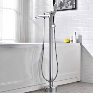 Mounted Bathtub Faucet Chrome with Hand Shower Bathroom Tub Sink Mixer Tap Free Standing Swivel Spout Shower Mixer Tap XT377
