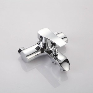 NEW Shower Faucet Set Bathroom Faucet Chrome Finish Mixer Tap W/ ABS Handheld Shower Wall Mounted XT323