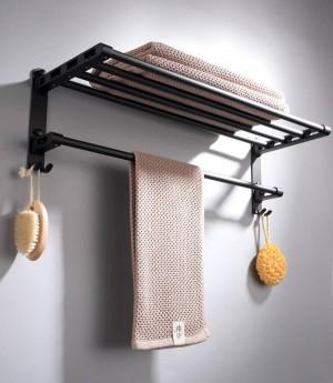 Zinc-alloy Black Color Bathroom Accessories Set Bath Hook Towel holder,Paper Holder Bathroom Hardware Sets 9092K