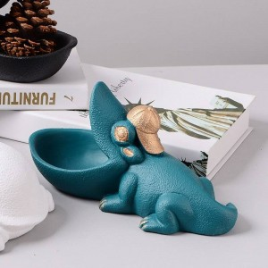 Natural resin animal ornaments over the fruit plate storage tray restaurant organizer home decoration