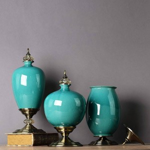 Neo-classical Modern Minimalist Ceramic Ornaments Vase Home Soft-packed Tv Cabinet Decorations