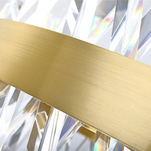 K9 Crystal LED Pendant light gold high brightness circle shape round hanging lamp warm white 3000K AC220V AC110V in