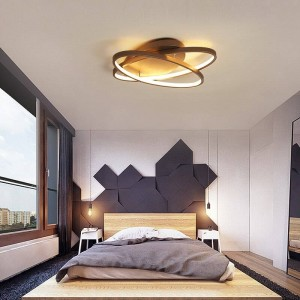 modern led ceiling lamp coffee and White color Led lamp for study room bedroom aluminum body