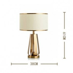 New classical creative table lamps plated gold metal lamp body in foyer bedroom bedside deco lighting E27 LED reading light