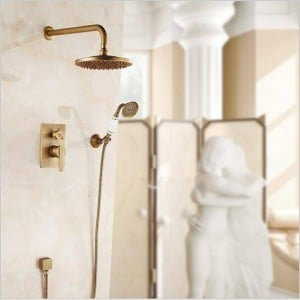 "NEW Concealed Shower Faucet Set Single Handle 8"" Rainfall Shower Mixers with Ceramic Brass Hand Shower LAD-314"