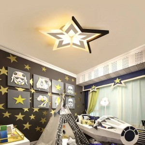 New stars / moon / clouds modern ceiling for bedroom kids room luminaria de teto White / black ceiling lamps