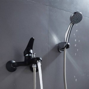 Poland warehouse Shower set Wall mounted fixed support type single holder single control bathroom faucet set XT382