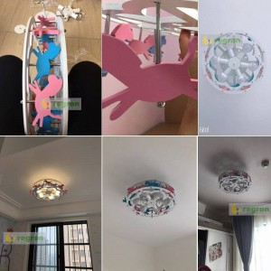New Trojan LED Ceiling Lights Boys and Girls Princess Children's Room lamp Bedroom Light Fixtures Creative Cartoon Lighting