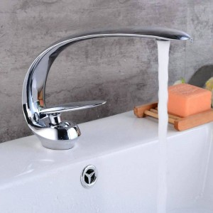 Newly Art Basin Faucet Brass Spout Bathroom Faucets Hot Cold Mixer Tap Waterfall Faucets Black Crane 9127S