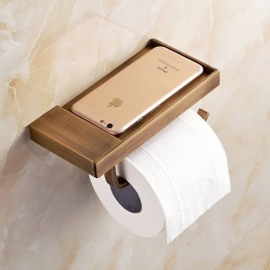 Newly Toilet Paper Holder Antique Carving Mobile Phone Roll Paper Holder Wall Mounted Paper Rack for Phone 6P XT1022