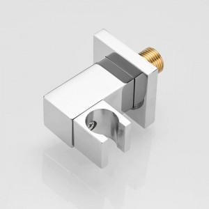 Nice brass Chrome Finish Swivel Handheld Shower Holder Shower Head Seat Rack Bathroom Parts Bath Accessories 811332